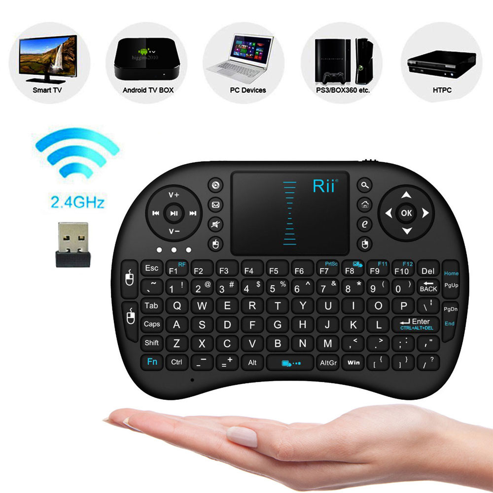 Multi-media Wireless Mini Keyboard with Touchpad